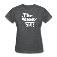 Women's T-Shirts ~ Women's T-Shirt ~ The Beer State (White)