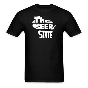 The Beer State (White)  - Men's T-Shirt