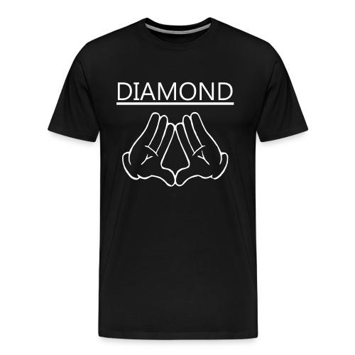 Diamondd Wht - Men's Premium T-Shirt
