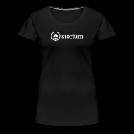 T-Shirts ~ Women's Premium T-Shirt ~ Women's Black Storium T-Shirt