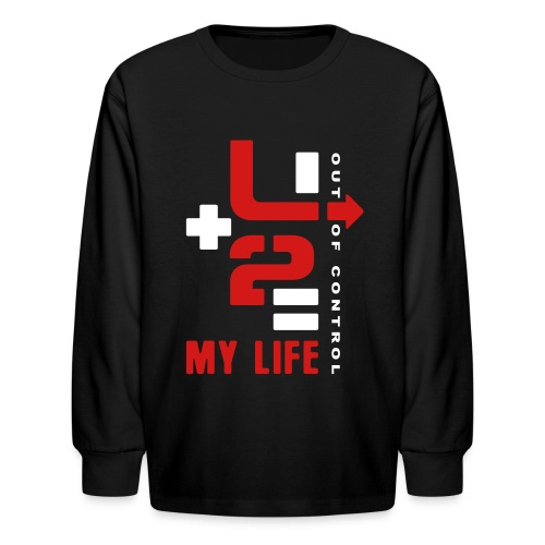 U+2=MY LIFE - front print - xs/l kids - Kids' Long Sleeve T-Shirt