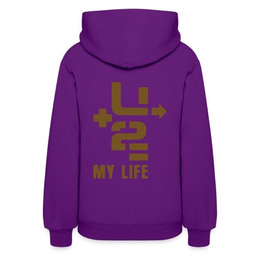 U+2=MY LIFE - back+front glitter - s/xxl - multi colors - Women's Hoodie
