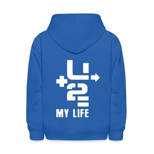 U+2=MY LIFE - back+front - s/l kids - multi colors - Kids' Hoodie