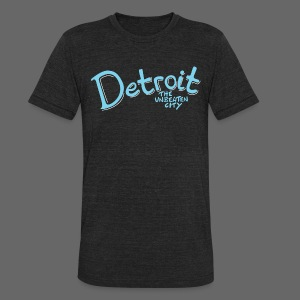 Unbeaten Detroit - Unisex Tri-Blend T-Shirt by American Apparel