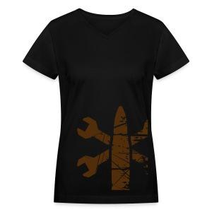 Greaser Faction Shirt (Women's) - Women's V-Neck T-Shirt