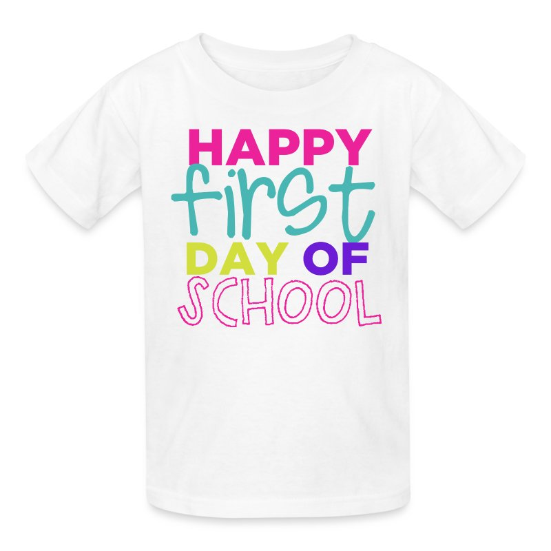 Happy First Day of School | Bright - Kids' T-Shirt