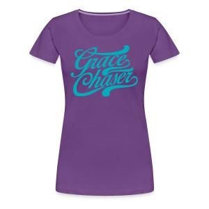Grace Chaser Cursive Tee Teal (WOMEN) - Women's Premium T-Shirt