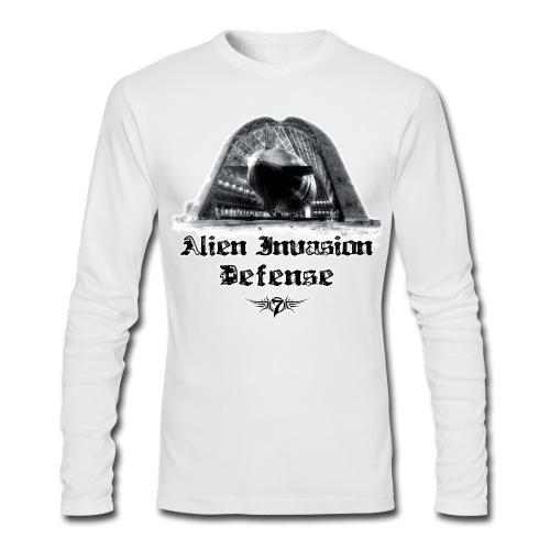 Alien Invasion Defender 5 - Men's Long Sleeve T-Shirt by Next Level