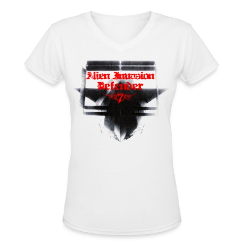 Alien Invasion Defender 3 - Women's V-Neck T-Shirt