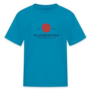 Kid's Flukemaster T-shirt: LIGHT SHIRT logo - Kids' T-Shirt