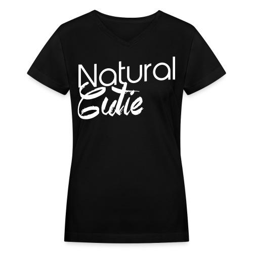 Natural CUTIE - Women's V-Neck T-Shirt