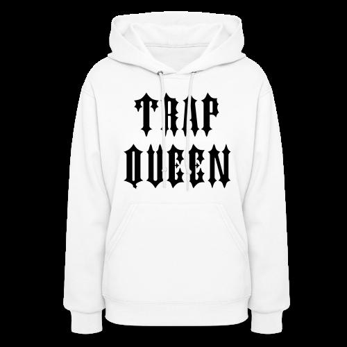 Trap Queen Hoody - White - Women's Hoodie