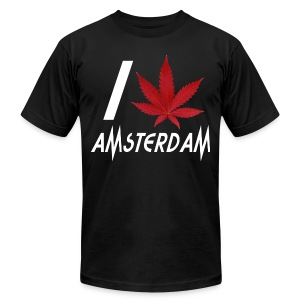 I Love Amsterdam - Men's T-Shirt by American Apparel