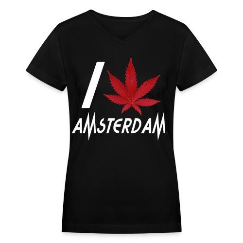 I Love Amsterdam - Women's V-Neck T-Shirt