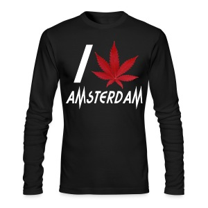I Love Amsterdam - Men's Long Sleeve T-Shirt by Next Level
