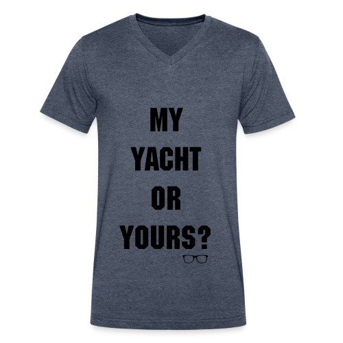 Who's Yacht? Men's V Neck Tee - Men's V-Neck T-Shirt by Canvas