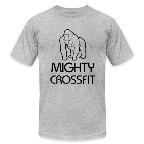 Mighty Tee - Black on Gray (Mens) - Men's Fine Jersey T-Shirt