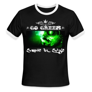 Go Green 5 - Men's Ringer T-Shirt