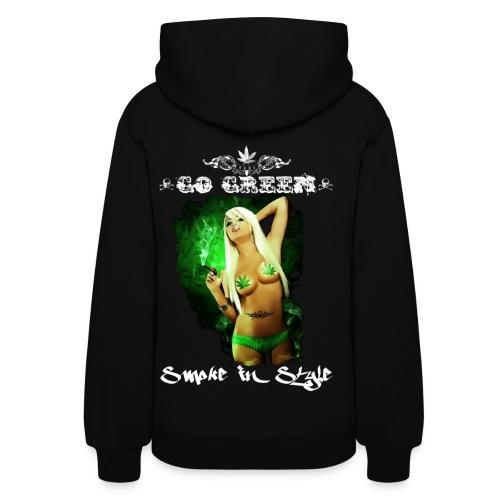 Go Green 9 - Women's Hoodie