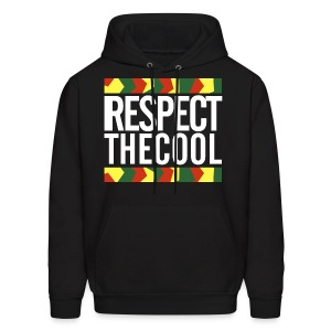 Respect The Cool White Logo Mens Hoodie - Men's Hoodie