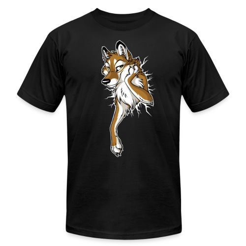 STUCK Caramel Wolf (2-sided) - Men's Fine Jersey T-Shirt