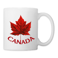 Mugs & Drinkware ~ Coffee/Tea Mug ~ Canada Souvenir Cups Red Canada Maple Leaf Mugs