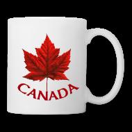 Mugs & Drinkware ~ Coffee/Tea Mug ~ Canada Souvenir Cups Red Canada Maple Leaf Mugs