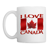 Mugs & Drinkware ~ Coffee/Tea Mug ~ I Love Canada Souvenir Cups Red Canada Flag Mugs