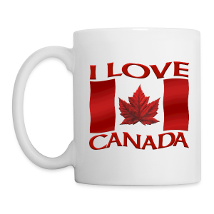 I Love Canada Souvenir Cups Red Canada Flag Mugs - Coffee/Tea Mug