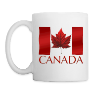 Mugs & Drinkware ~ Coffee/Tea Mug ~ Canada Souvenir Cups Red Canada Flag Coffee Mugs