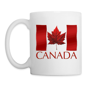 Canada Souvenir Cups Red Canada Flag Coffee Mugs  - Coffee/Tea Mug