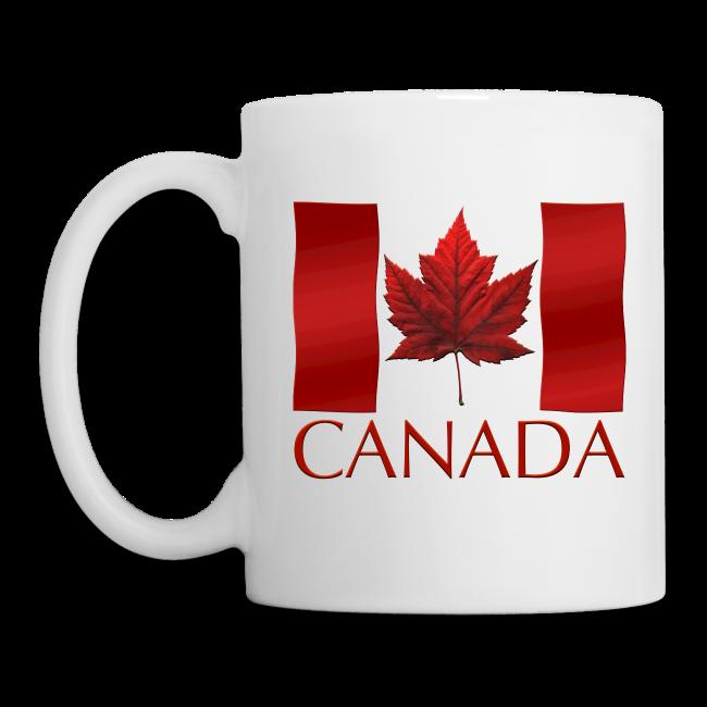Canada Souvenir Cups Red Canada Flag Coffee Mugs