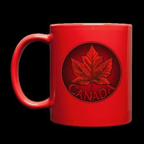 Canada Flag Cups Souvenir Mugs Red Canada Maple Leaf Cups  - Full Color Mug