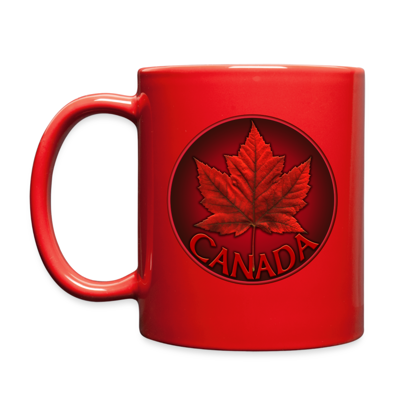 Canada Flag Cups Souvenir Mugs Red Canada Maple Leaf Cups  - Full Color Mug