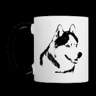 Mugs & Drinkware ~ Contrast Coffee Mug ~ HUsky Cups Sled Dog Mugs Siberian Husky Coffee Cups