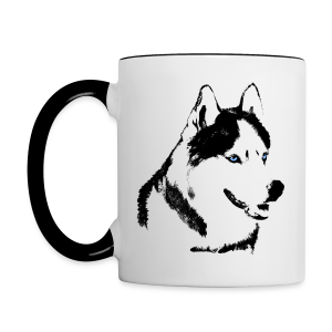 Husky Cups Sled Dog Mugs Siberian Husky Coffee Cups - Contrast Coffee Mug