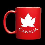 Mugs & Drinkware ~ Full Color Mug ~ Canada Flag Cups Souvenir Mugs Red Canada Maple Leaf Cups