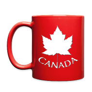 Mugs & Drinkware ~ Full Color Mug ~ Canada Flag Cups Souvenir Mugs Red Canada Maple Leaf Cups