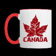 Mugs & Drinkware ~ Contrast Coffee Mug ~ Canada Souvenir Cups Cool Canada Maple Leaf Mugs