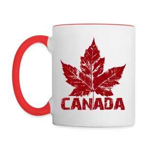 Canada Souvenir Cups Cool Canada Maple Leaf Mugs  - Contrast Coffee Mug
