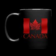 Mugs & Drinkware ~ Full Color Mug ~ Canada Flag Cups Souvenir Mugs Red Canada Flag Coffee Cups