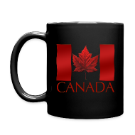 Mugs & Drinkware ~ Full Color Mug ~ Canada Flag Cups Souvenir Mugs Red Canada Flag Coffee Cups