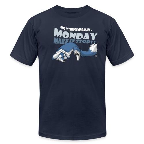 Monday - Make it stop! (blue) - Men's Fine Jersey T-Shirt