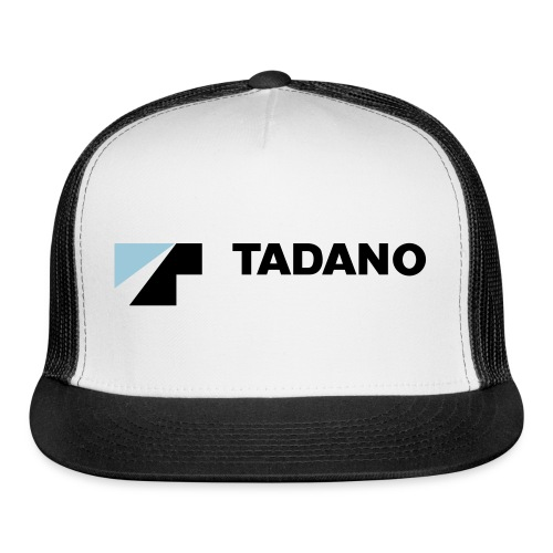 Blue/white hat with full color logo - Trucker Cap