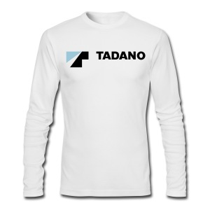 White long sleeve shirt with full color logo - Men's Long Sleeve T-Shirt by Next Level