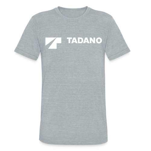 Grey t-shirt with white logo - Unisex Tri-Blend T-Shirt