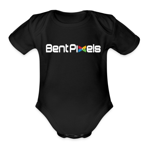 Organic Short Sleeve Baby Bodysuit - Feel a part of the BentPixels family more than ever with this BentPixels infant  . Transparent background with white lettering.