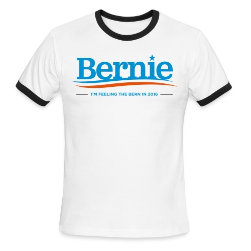 Feeling the Bern in 2016 - Men's Ringer T-Shirt by American Apparel - Men's Ringer T-Shirt
