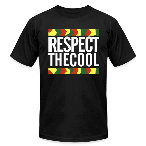 Respect The Cool White Logo T-Shirt - Men's Fine Jersey T-Shirt