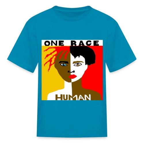 ONE RACE HUMAN TEE - Kids' T-Shirt